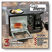 3-n-1 Breakfast Machine Toaster Oven, Coffee, Combo