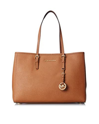 MICHAEL Michael Kors Women's Jet Set Travel Large East/West Tote, Luggage
