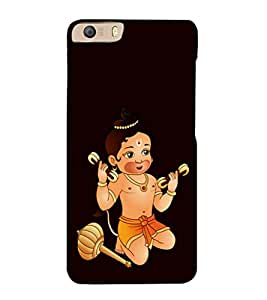 printtech Baby Kid Lord Hanuman Back Case Cover for Micromax Canvas Knight 2 E471