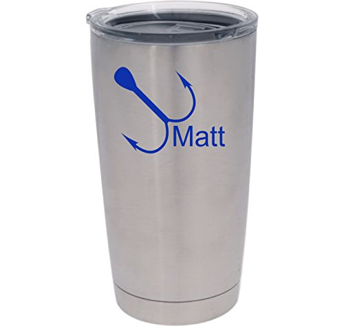 Fish Hook Decal Tumbler | Yeti Monogram Vinyl Decal with Design, Color, and Size Options (Fishing Fish Fisher Decal compare prices)