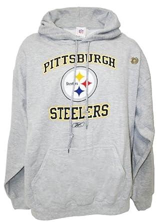 NFL Pittsburgh Steelers Pullover Hooded Sweatshirt, Gray, Medium