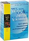 Wart Mole Vanish Award Winning, All Natural, Wart, Mole, Skin Tag, Syringoma &amp; Genital Wart Remover Removal. Remove with only ONE 20 minute application! No daily application of creams, oils or acids. Pristine Herbal Touch - the only authorized seller