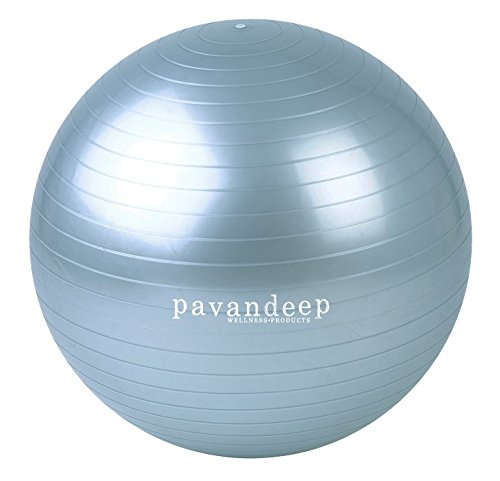 2000lbs Exercise Stability Ball By Pavandeep Anti Burst Perfect for Pilates Yoga Gym Fitness Fitballing | Use As Desk Chair | Pump Included 75cm Phthalate FREE