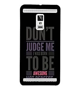 Born To Be Awesome 3D Hard Polycarbonate Designer Back Case Cover for VIVO X3S