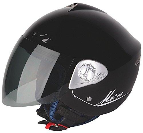 G-MAC 108114M00 Casco Moto Metro, Nero, Taglia M