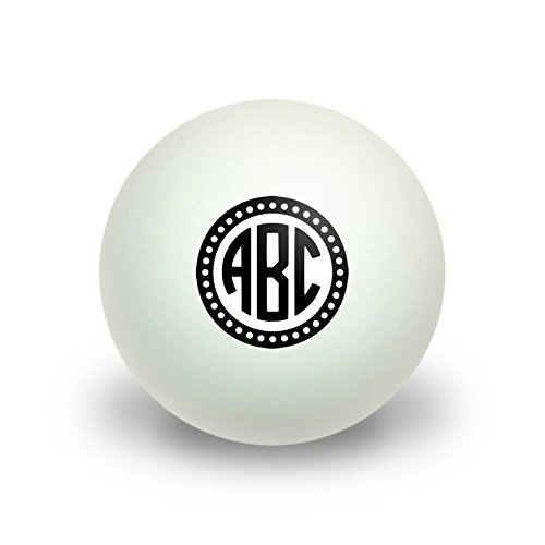 Graphics and More Personalized Custom Novelty Table Tennis Ping Pong Ball 3 Pack - Monogram Circle Font Scalloped Outline (Personalized Ping Pong Balls compare prices)