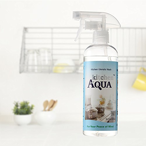 Kitchen Aqua (16.7 Fl. Oz) All Natural Kitchen Cleaner - No Fume, 100% Non-Toxic, No Odor, Chemical-Free - Cleans Oven,