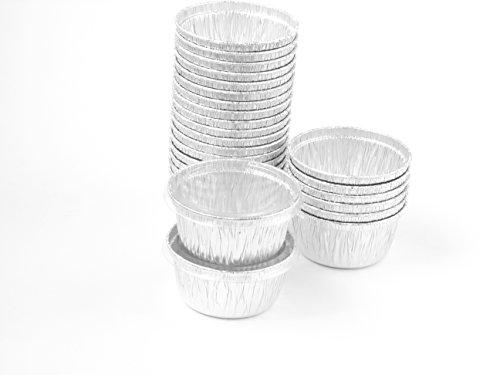 Disposable Aluminum 4 Oz Ramekins/foil Cups w/ Clear Snap on Lid #1400p (50)