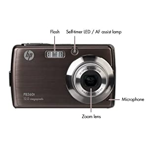 HP PB360 12 MP Digital Camera with 3-Inch Touchscreen LCD  (Bronze)