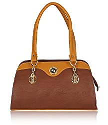 Fantosy Women's Handbag Brown and Tan (FNB-585)