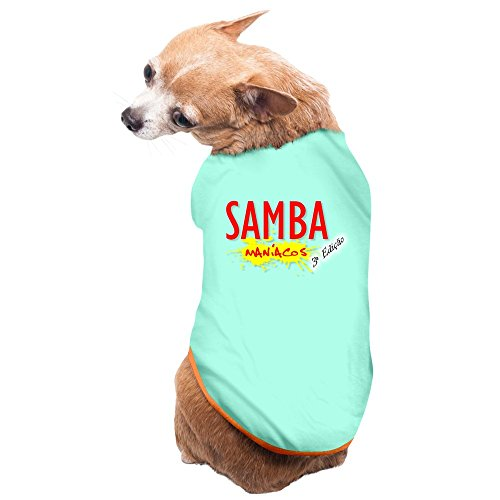YTTUWS Samba For Brazilian Carnival Pet Dog 100% Fleece Vest Clothes,SkyBlue US Size L