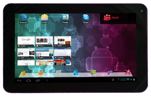Visual Land Connect 9-Inch Tablet with 8GB Memory (Purple)