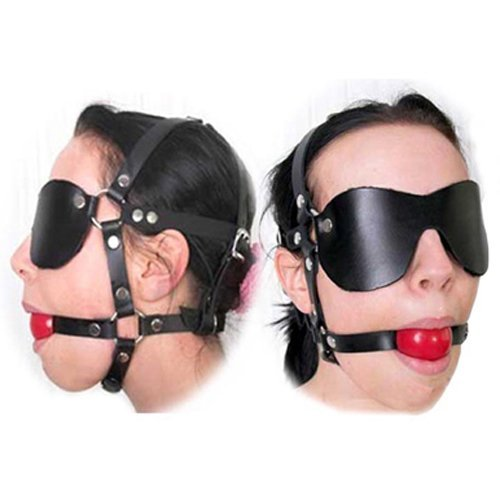 41i8VDQhVCL. SL500  HOT Sale Slave Solid Ball Gag Bondage SM BDSM Full Head Harness Slave Mask Gag Muzzle Bondage Unisex