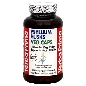 Yerba Prima Psyllium Husks Veg Caps - 625 mg - 180 Vegetarian Capsules