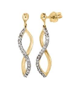 Tuscany - 1.58.4779 - Boucles d'Oreilles Pendantes Femme - Or jaune 375/1000 (9 Cts)