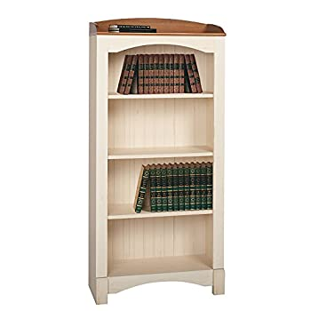 Realspace Shore Mini Solutions 4-Shelf Bookcase, Antique White
