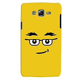 ColourCrust Samsung Galaxy J7 Mobile Phone Back Cover With Quirky Smiley Expression - Durable Matte Finish Hard Plastic Slim Case