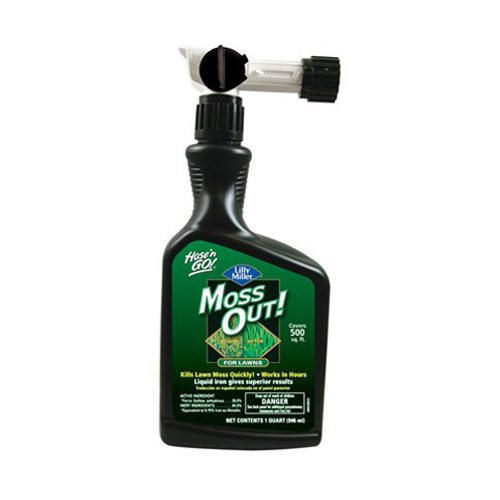 Lilly Miller 100503873 Moss Out Hose N Go for Lawns, 32-Ounce