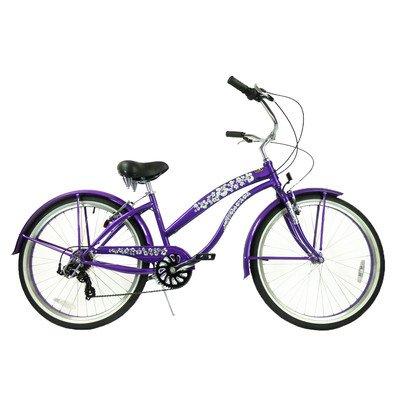 7-Speed Beach Cruiser Frame Color: Purple (Ladies), Gender: Ladies