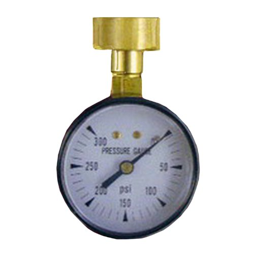 LASCO 13-1901 Metal Water Test Gauge 300 PSI with Adapter to Hose Thread (Hose Pressure Bag compare prices)