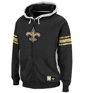 New Orleans Saints Intimidating V Full Zip Hoodie by NFL Apparel
