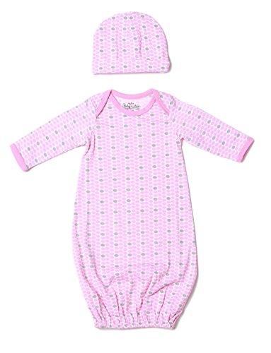 Baby Be Mine Newborn Gown and Hat Set (Newborn 0-3 Months, Chloe)