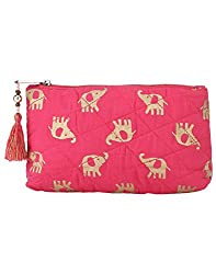 Needlecrest Women's Casual Pouch (Pink Color)