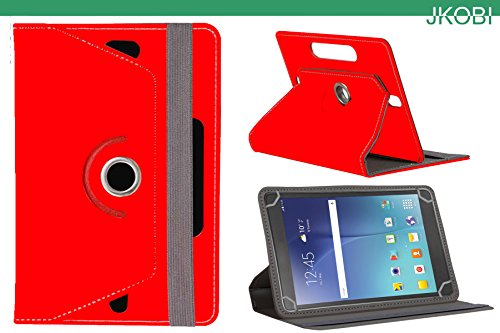 Jkobi 360* Rotating Front Back Tablet Book Flip Flap Case Cover Compatible For Samsung Galaxy Tab 3 Lite 7. 0 -Red  available at amazon for Rs.210