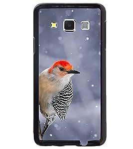 Printvisa Black And Red Cuckoobara Bird Back Case Cover for Samsung Galaxy E5::Samsung Galaxy E5 E500F