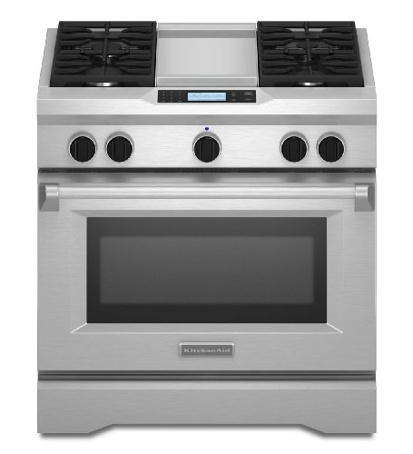 Kitchenaid KDRU763VSS Commercial-Style Dual Fuel Range