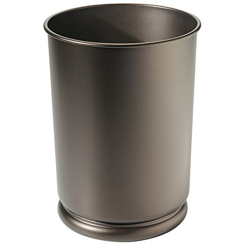 Mdesign Tall Wastebasket Trash Can For Office Restaurant