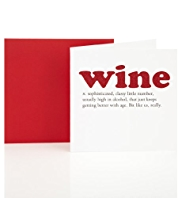 Wine Definition Birthday Greetings Card