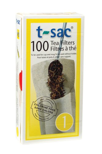 Great Deal! T-Sac Tea Filter Bags, Disposable Tea Infuser, Number 1-Size, 1-Cup Capacity, 100 Count