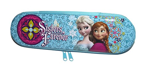 Disney Frozen Elsa & Anna Sisters Forever Blue Zip Around Pencil Case Tin - 1