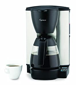 Programmable Coffee Maker Stainless Steel Carafe : Amazon.com: Capresso Programmable Coffeemaker with Glass Carafe, Stainless Steel/Black, 10-Cup ...