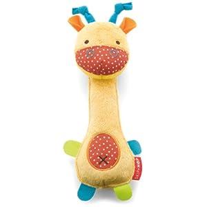 Skip Hop Giraffe Safari Squeeze Me Rattle Toy, Giraffe