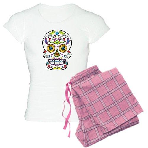 1a4f28c5b4 CafePress Sugar Skull Pajamas Women s Light Pajamas from CafePress ...