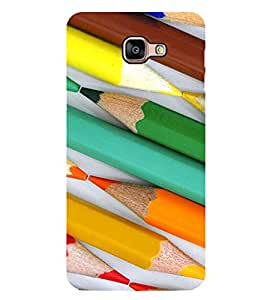 Colourful Pencils Pattern 2D Hard Polycarbonate Designer Back Case Cover for Samsung Galaxy A8 :: Samsung Galaxy A9 (2016) Duos with dual-SIM card slot