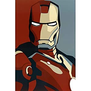 Iron Man 2 Movie (Artistic Stylized Iron Man) Art Poster Print