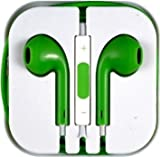 Baba Essentials 4U® Earphones With Remote, Mic, Volume Controls For Apple iPod iPad iPhone 4 4S iPhone 5 5C 5S (GREEN)