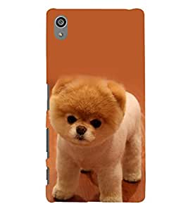 printtech Cute Dog Back Case Cover for Sony Xperia Z5 Premium