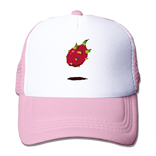Texhood Cute Creative Suspension Pitaya Geek Baseball Cap One Size Pink
