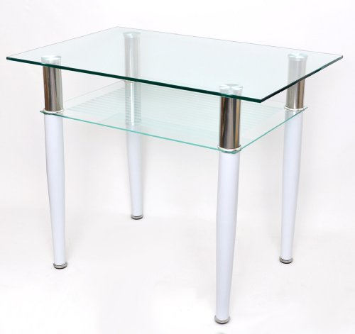 glass-coffeedining-table-60-x-90-cm-for-the-computer-with-stainless-steel-and-white-10-mm-tempered-g