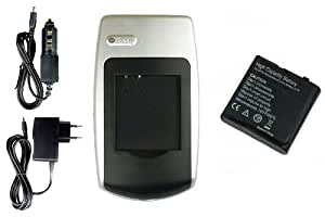 Batería + Cargador NP-40 para Easypix DVX1035 Full HD, WDV5270 HD