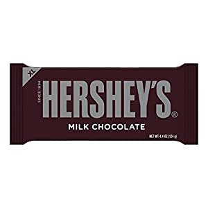 Hershey's Chocolate Extra Large Bar, 4.4-Ounce Bars (Pack of 12)