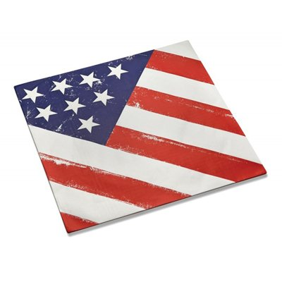 Outset 76192 American Flag Burger Basket Liners