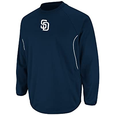 MLB San Diego Padres Therma Base Tech Fleece, Navy/White