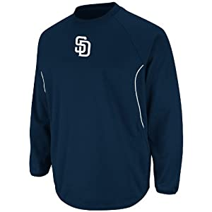MLB San Diego Padres Therma Base Tech Fleece, Navy White by Majestic