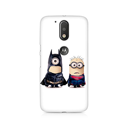 Motivatebox - Batman vs Superman Minions Moto G4/G4 Plus cover - Polycarbonate 3D Hard case protective back cover. Premium Quality designer Printed 3D Matte finish hard case back cover.