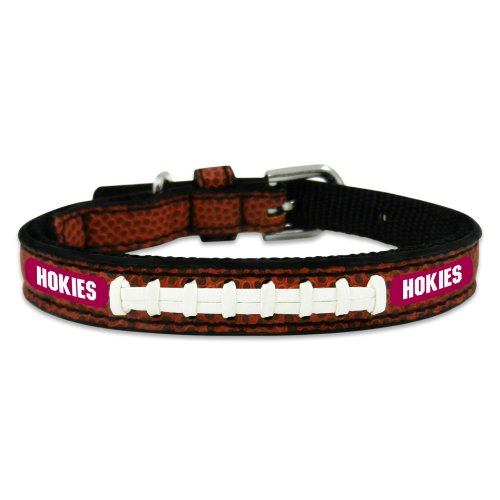 NCAA Virginia Tech Hokies Classic Leather Football Collar 247 classic leather
